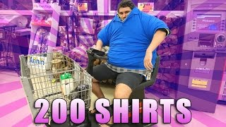WEARING 200 SHIRTS IN THE GROCERY STORE thumbnail