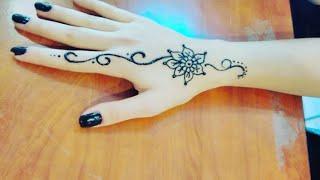 Basit hint kınası modeli/ nasıl yapılır/ henna tattoo/ hint kınası ile dövme yapımı