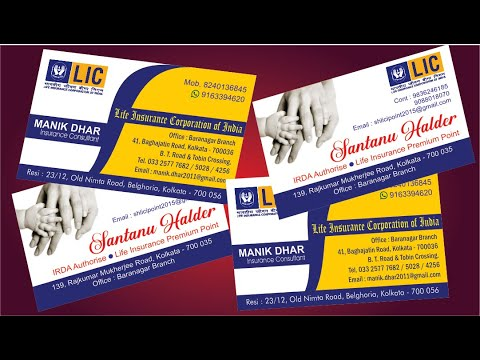 Professional Business Card in CorelDRAW Tutorial   Creative latest visiting card