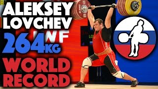 Alexey Lovchev (105+) - 264kg Clean and Jerk World Record Slow Motion