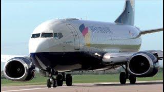 West Atlantic Boeing 737-300F G-JMCO Departing Cambridge Airport
