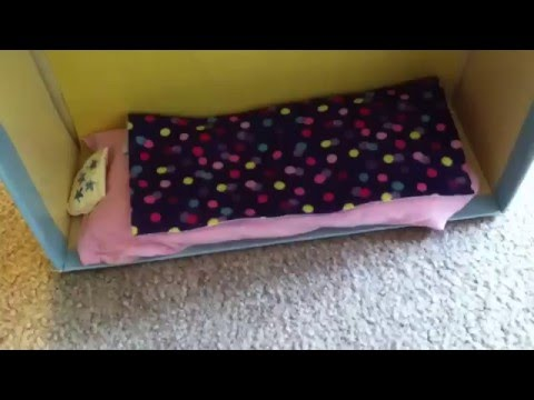 How to make a doll bunk bed +Doll mattress & no-sew pillow!!