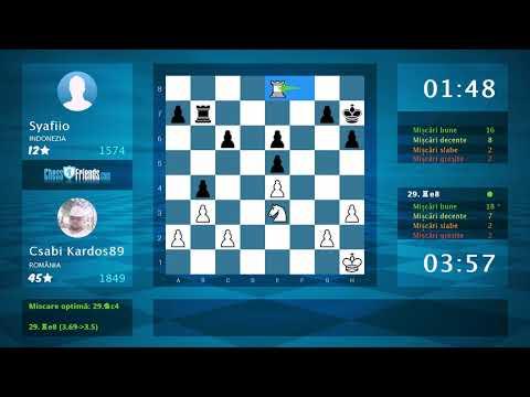 Chess Game Analysis: Csabi Kardos89 - Syafiio : 1-0 (By ChessFriends.com)