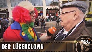 Der Lügenclown: Ralf Kabelka bei der AfD-Demo
