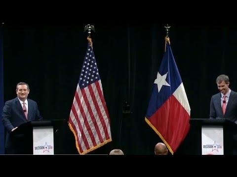 Cruz, O'Rourke square off in first debate in Texas Senate race