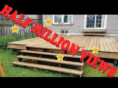 FLOATING DECK MADE EASY STEP BY INSTRUCTIONS FOR BEGINNERS PLUS STAIRS