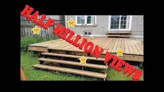 FLOATING DECK MADE EASY. STEP BY STEP INSTRUCTIONS FOR BEGINNERS. PLUS STAIRS..