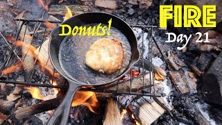 Donuts on a Campfire | 28 Day Fire Challenge | Food & Fire