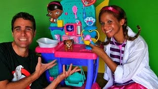 Doc McStuffins Pet Vet Checkup Center Unboxing!  || Disney Toy Reviews || Konas2002