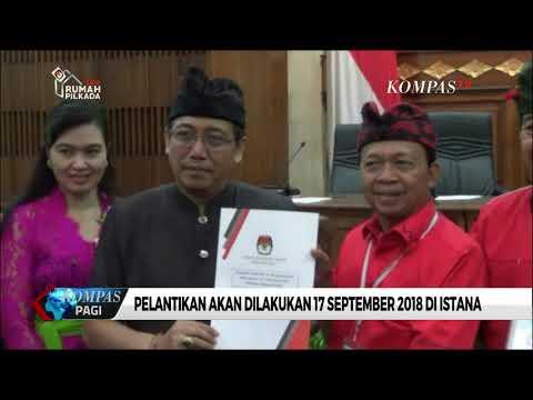 Resmi, Koster-Ace Gubernur Dan Wagub Bali Terpilih