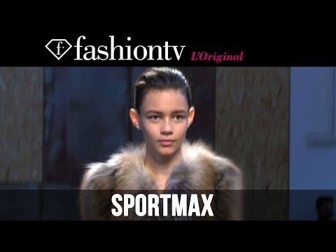 Marine Deleeuw, Irina Kravchenko at Sportmax Fall/Winter 2014-15 | Milan Fashion Week MFW| FashionTV