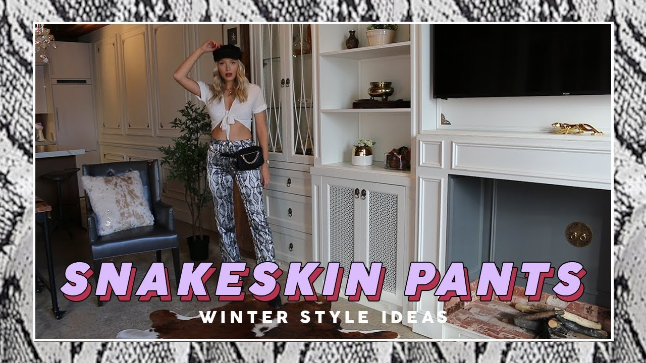 How To Style Snakeskin Pants: 5 Ways | easy winter outfit ideas! 5