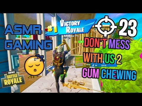 ASMR Gaming 😴 Fortnite Don't Mess With Us 2 Relaxing Gum Chewing 🎧🎮 Controller Sounds + Whispering 💤