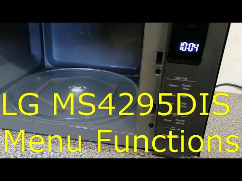 Microwave LG MS4295DIS Menu Functions
