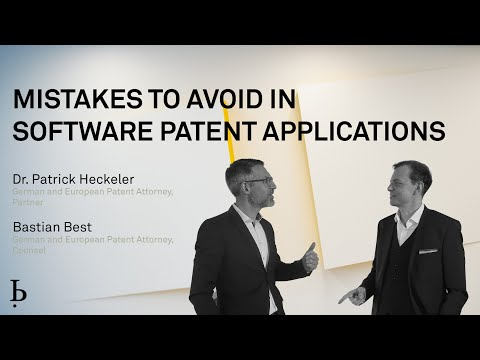 Mistakes to avoid in software patent applications (2021)