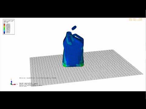 Impact of an water-filled bottle in Abaqus