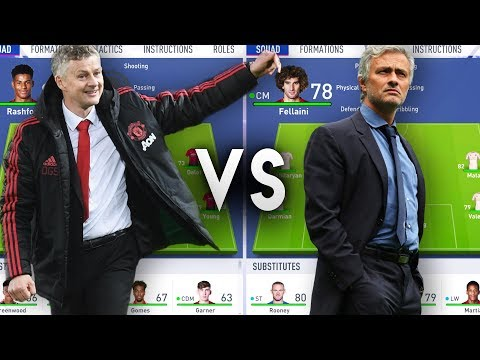 Ole Gunnar Solskjaer's Manchester United VS Jose Mourinho's Manchester United - FIFA 19 Experiment