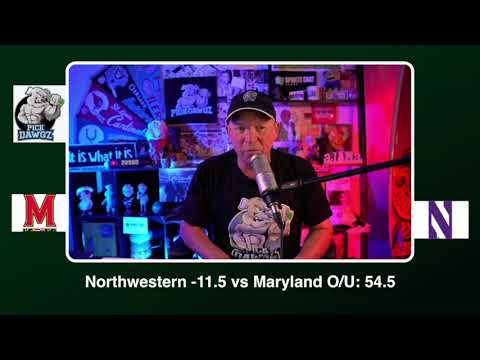 Northwestern vs Maryland Free College Football Picks and Predictions CFB Tips Saturday 10/24/20