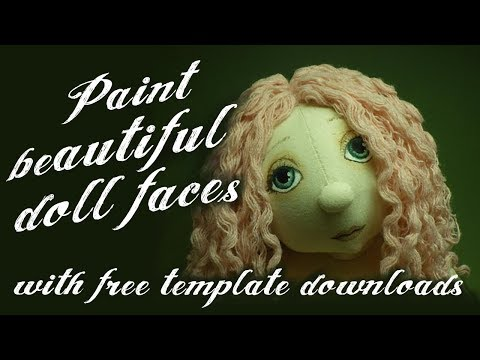 Rag Doll Making Project - painting your doll face - Alice's Bear Shop
