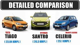 Hyundai santro 2018 vs Tata Tiago vs Maruti Celerio | best car under 5 lakhs