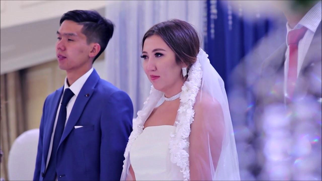 поздравления на день свадьбу на казахском и русском виде