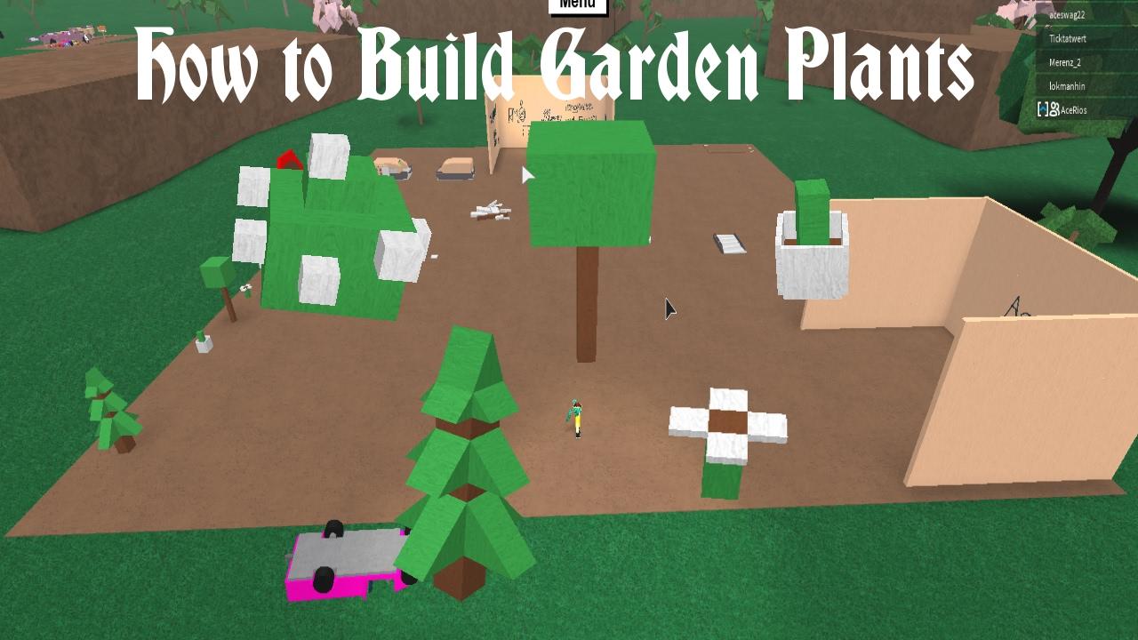 Lumber Tycoon 2 | How To Build Garden Plants   YouTube