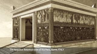 The Augustus Botanical code of Ara Pacis, Rome, ITALY