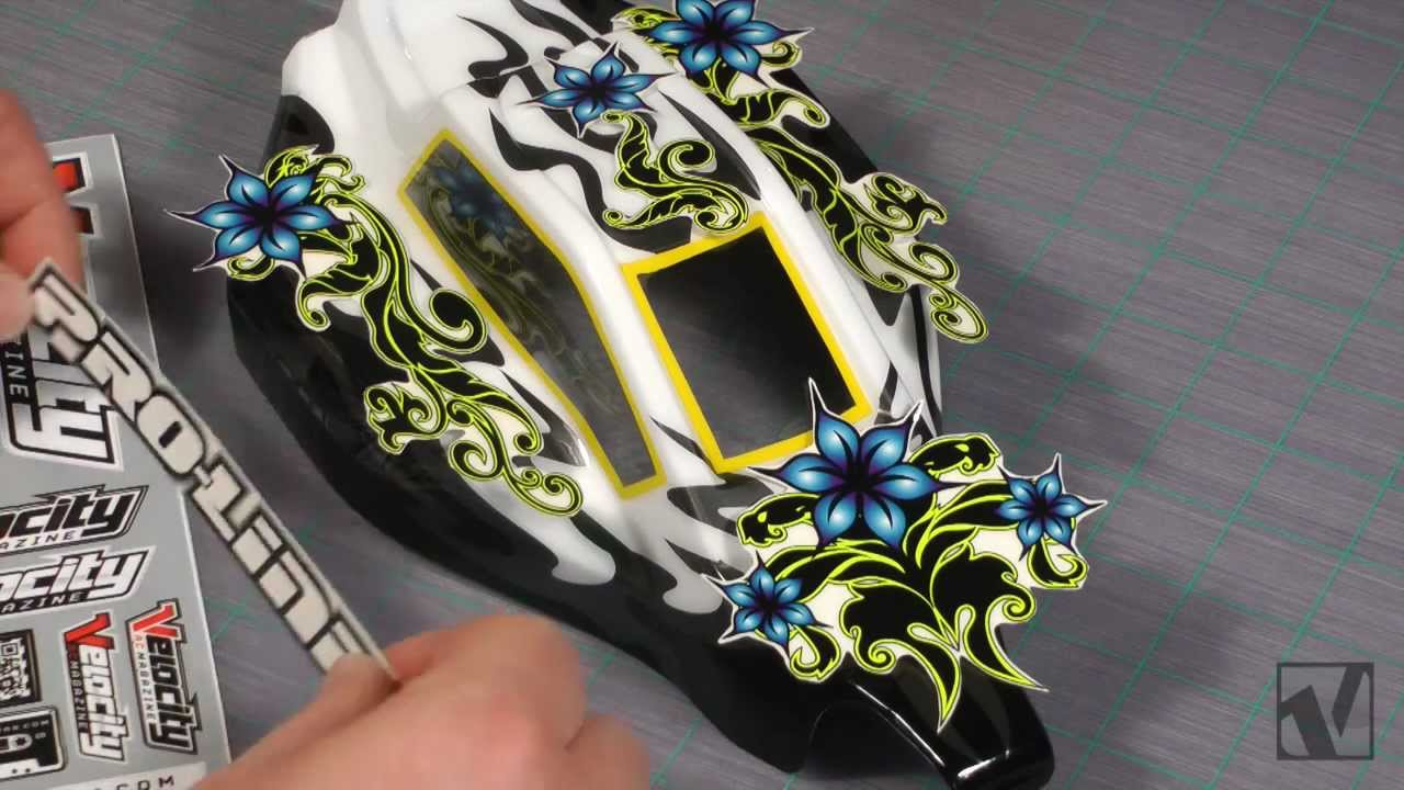 Howto RC Car Body Painting With Stickers VRC Magazine YouTube - Custom vinyl decals for rc cars