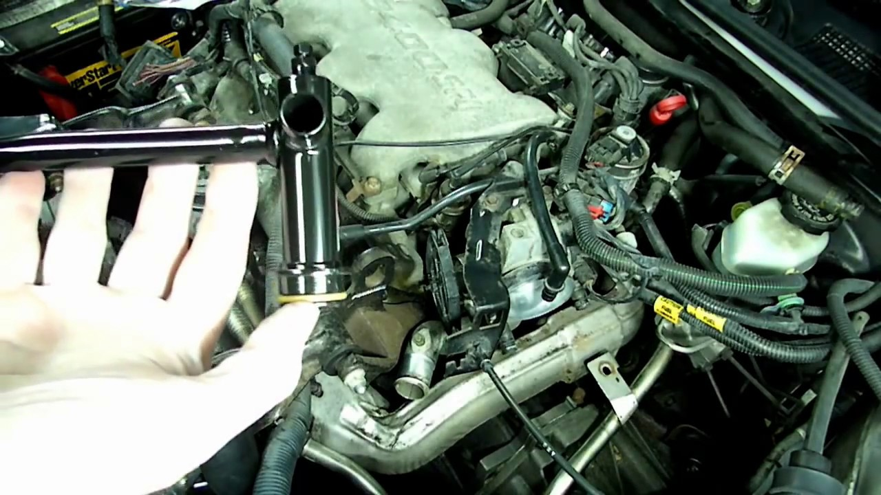 gm 3100 3400 thermal bypass pipe replacement [ 1280 x 720 Pixel ]