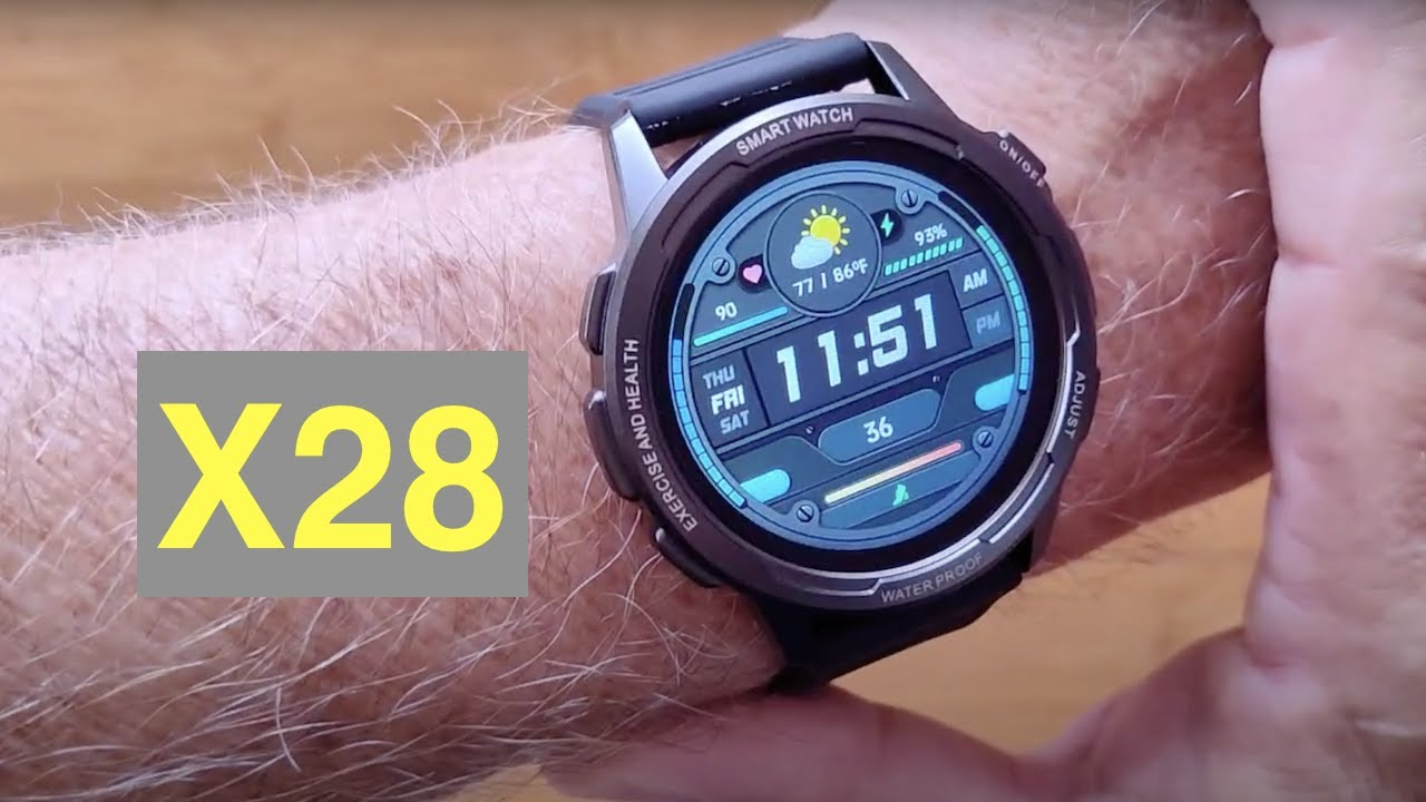 Download SENBONO X28 IP68 3ATM Waterproof 360x360p Blood Pressure Fitness Smartwatch: Unboxing and 1st Look