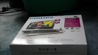 Unboxing Philips PET 946 12 Portable DVD Player-Batterielebensdauer: max. 5 Stunden