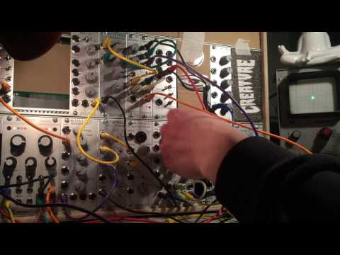 Rings & Friends (Mutable Instruments Rings, Microbrute, MicroKorg + Oscilloscope)