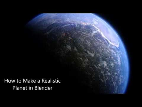 How to Make a Realistic Alien Planet in Blender!