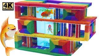 DIY  HowTo Make Fish Pond Modern Mansion Magnetic Balls (ASMR Satisfying) | Magnet World Series#219