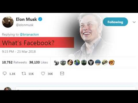 Elon Musk deletes firms Facebook pages after dare given by twitter user