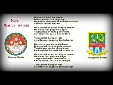 Mars Dharma Wanita Kabupaten Bekasi dengan Lirik