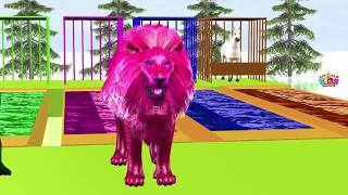 Funny Awesome Animals | Color Song Fun Educational Kids Video