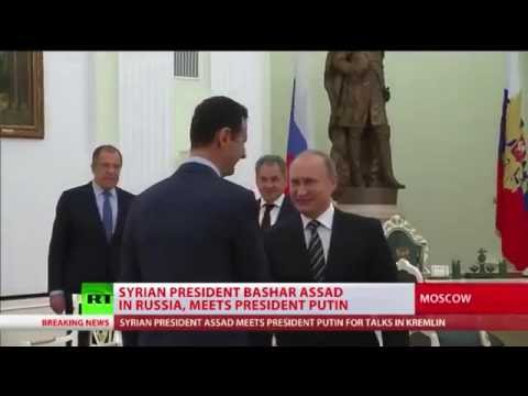 President of Syria Assad travels to Moscow to meet with President of Russia Putin