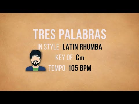 Tres Palabras - Karaoke Backing Track