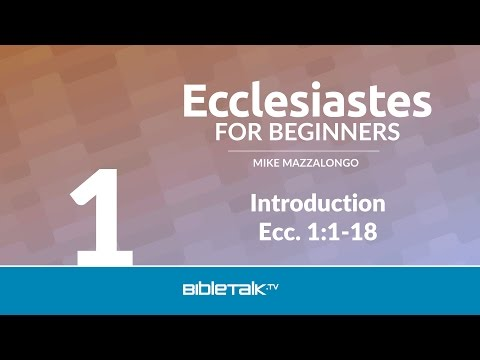 Ecclesiastes Bible Study for Beginners