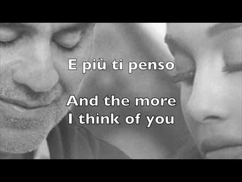 Andrea Bocelli & Ariana Grande, E più ti penso (lyrics & translate)