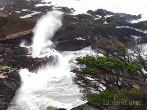 Central Oregon Coast's Spouting Horn at Cook's Chasm, near Yachats