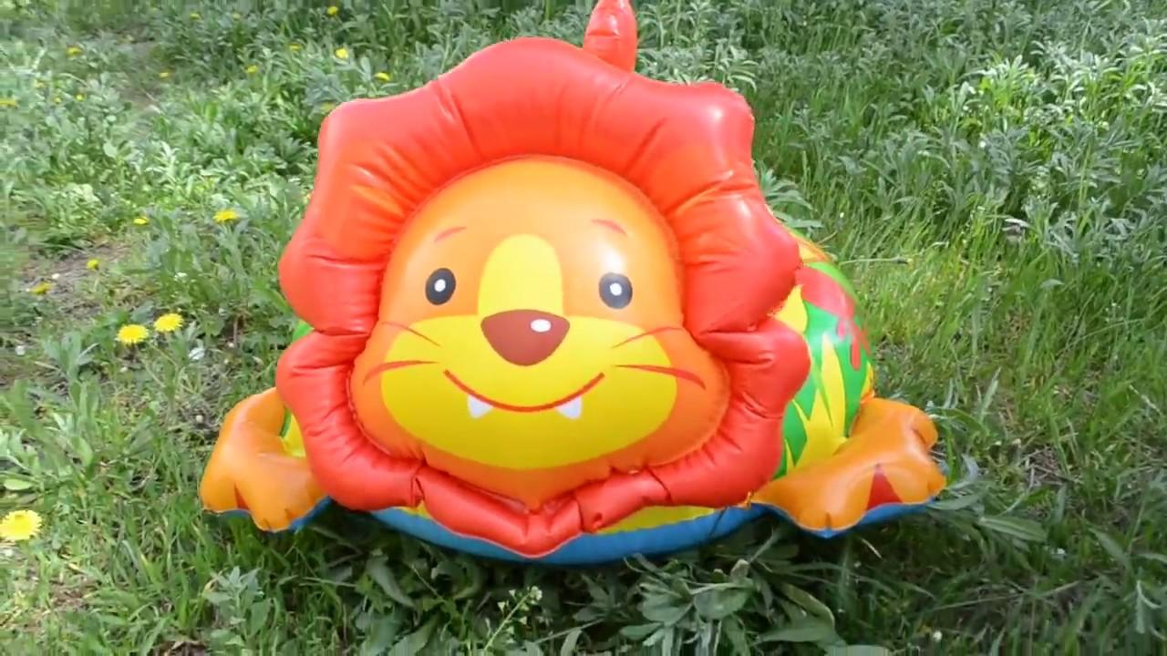 Детские надувные круги для плавания Intex 58221 в виде животного .