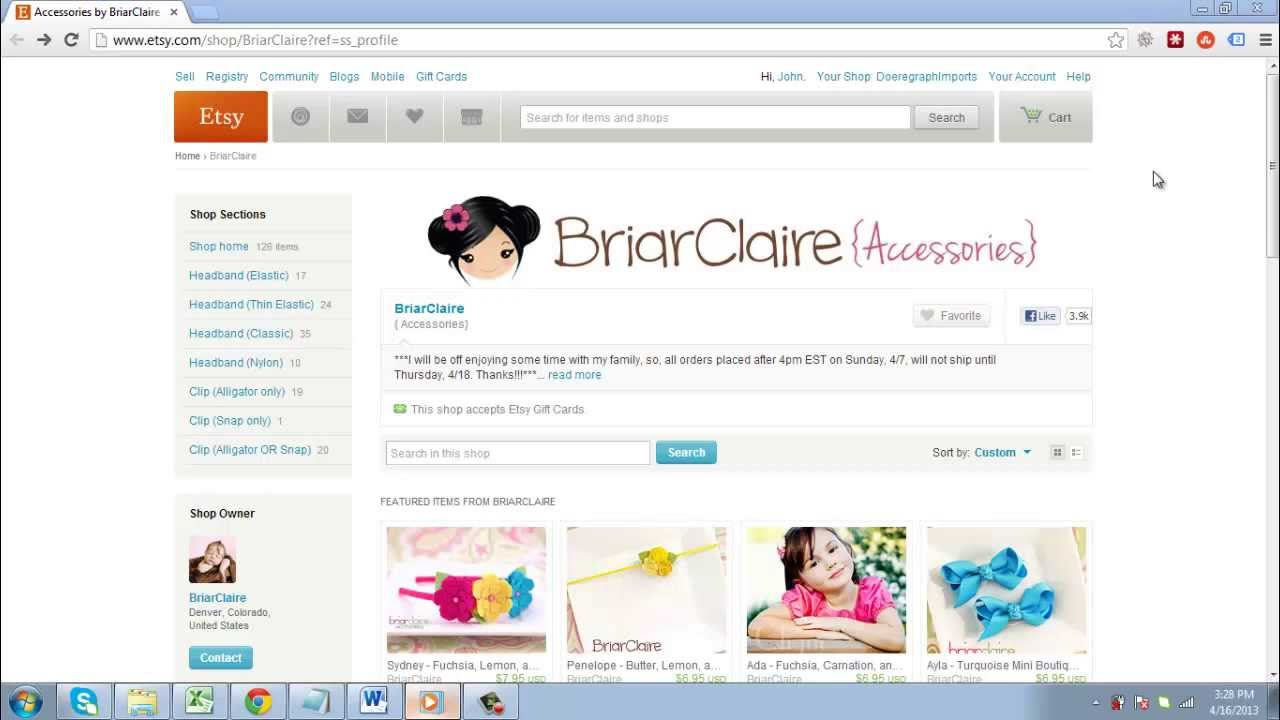 Design banner for etsy - How To Create A Banner For Etsy