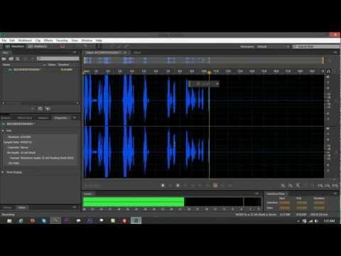 Audio Hardware Setup (Mic Input and Monitoring Speakers) on Adobe Audition CS6