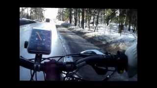 Велосипед с двигателем от триммера,не большой прокат,после зимнего мототоксикоза...(Редуктор от дрели. Видео стабилизировали......блин....., 2013-02-28T15:13:07.000Z)