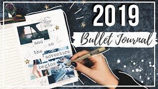 ОФОРМЛЕНИЕ ЕЖЕДНЕВНИКА НА 2019 ГОД || КОЛЛЕКЦИИ И ТРЕКЕРЫ || BULLET JOURNAL SETUP 2019 || Миша пишет