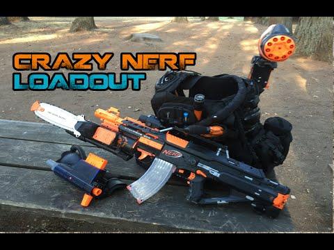 INSANE NERF LOADOUT! Ire Stampede ECS-18, Shoulder Blaster, Underarm Rampage!   Walcom S7