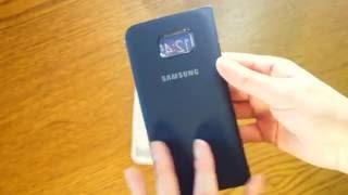 Кожаный чехол книжка для Samsung Galaxy S7 Edge s view cover