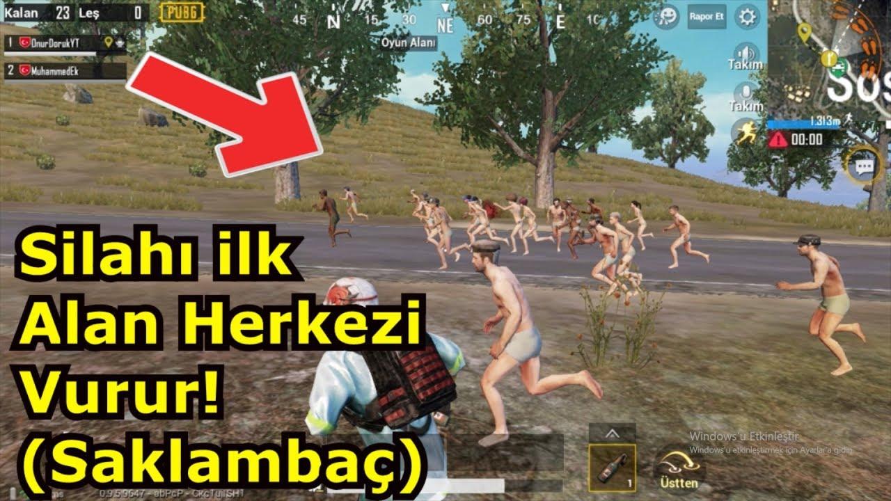 SİLAHI İLK ALAN HERKEZİ VURUR!(Pubg Mobile SAKLAMBAÇ Oynadık)